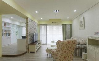 简单田园风格客厅吊顶设计