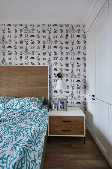 简约壁纸卧室背景墙装修
