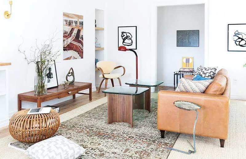 62平北欧范儿小户型客厅实景图