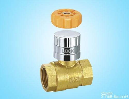 暖气管道锁闭阀的作用 提醒:锁闭阀不可随意开启或关闭图片