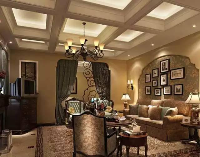 美式沙发背景墙图片