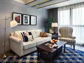 90平休闲美式设计 复式家装效果图