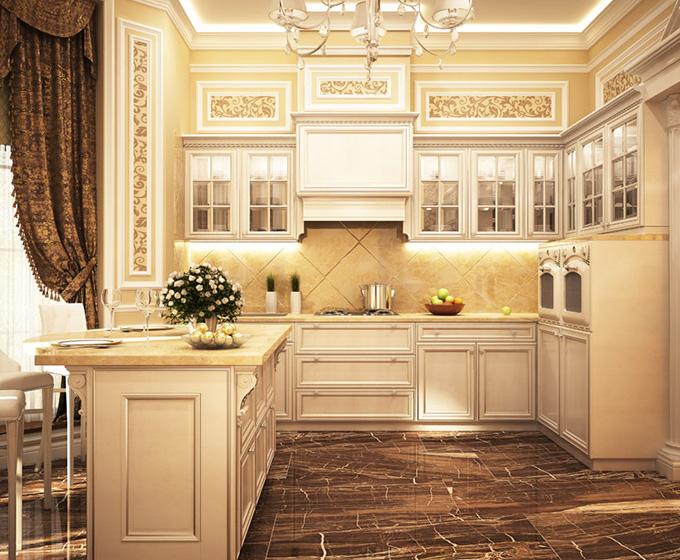 法式厨房装修效果图图片