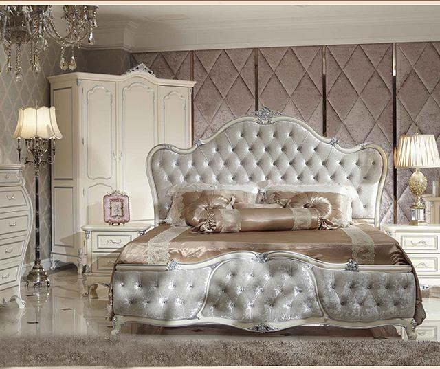 华丽浪漫法式卧室 软包背景墙欣赏图片