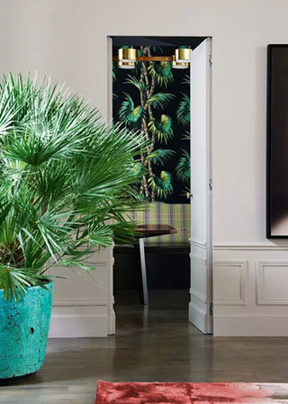电视背景墙隐形门装修图