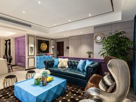 多彩新古典混搭 两室两厅装修设计