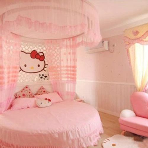 梦幻Kitty简欧风 儿童房卧室装修图