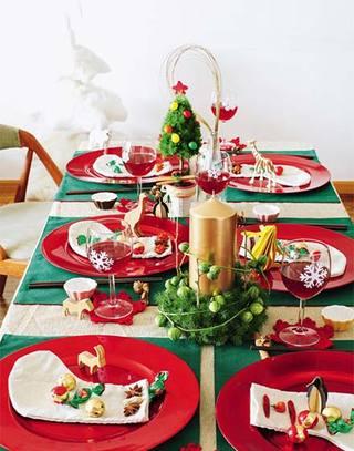 活力圣诞家庭餐厅装饰图片