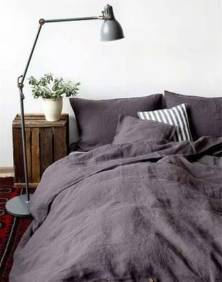 卧室棉麻床品图片