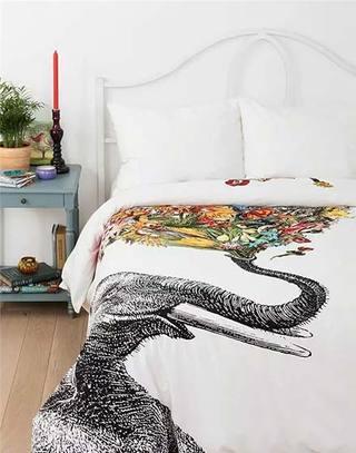 卧室民族风舒适床品图片