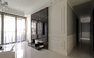 时尚现代风 黑色大理石电视背景墙设计
