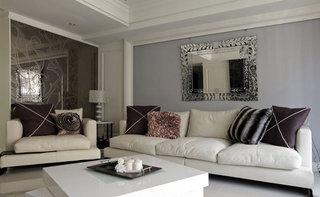 精致新古典沙发背景墙设计