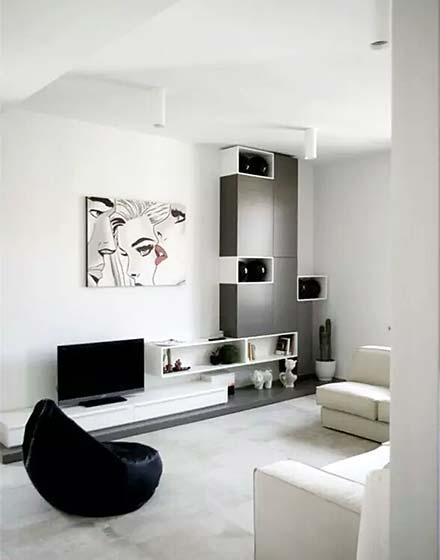 极简客厅装修电视柜图片