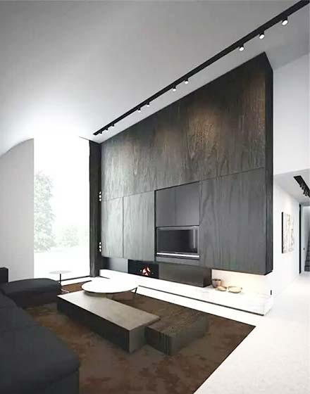 黑白客厅电视柜设计图