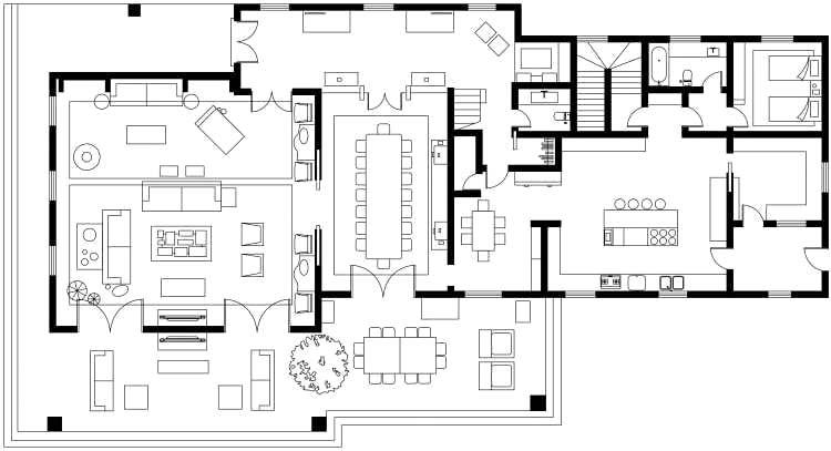 280平独栋别墅平面图