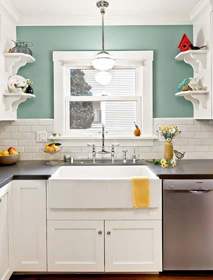 简约清新厨房装修装饰图