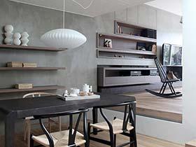 轻日式风格110平米小复式公寓