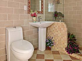 簡單與清新  11個田園風格整體衛生間裝修效果圖