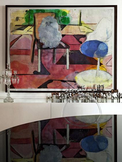 抽象玄关装饰画效果图