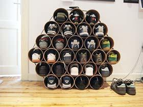 鞋子收纳不单一 11个创意鞋柜装修装饰图片