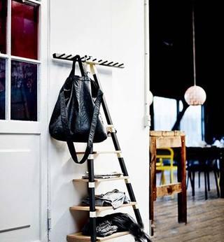 墙面层板鞋柜效果图