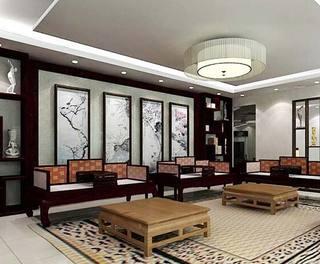 中式客厅茶几装修图片