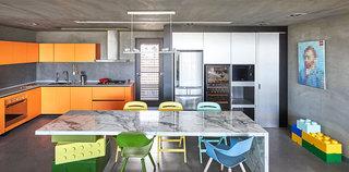 工业风混搭 开放式厨餐厅一体效果图