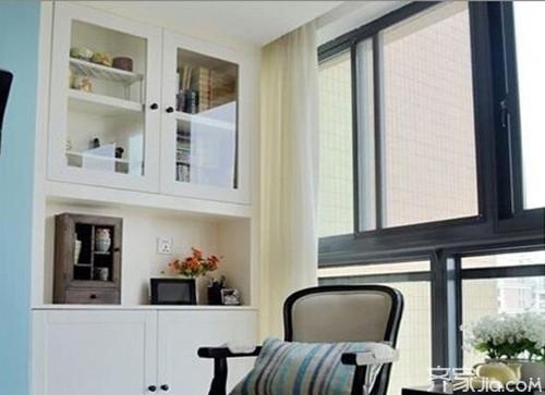 阳台柜子设计 让你的阳台起来收纳作用图片