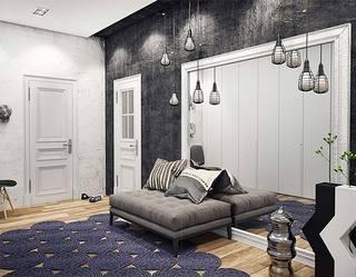 复古轻工业风  120平两居室公寓装修图片1/10