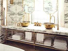 浴室化个复古妆 11个复古卫生间装修图