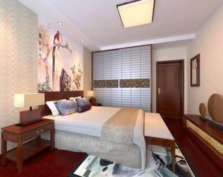 中式卧室装修装饰效果图片