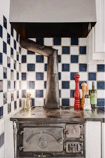 希腊地中海风格开放式厨房装修设计