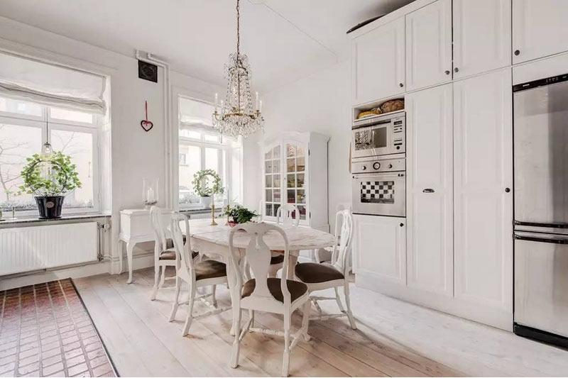 希腊地中海风格白色餐厅装修设计