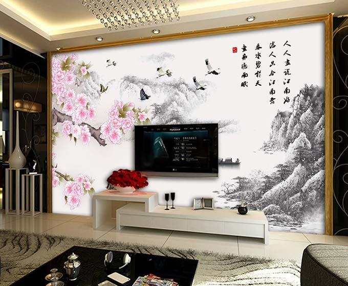 客厅背景墙效果图图片