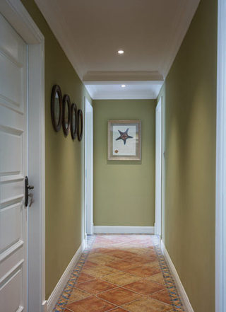 清新美式家居嫩绿色走廊效果图