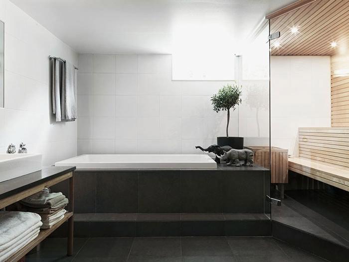 北欧风情舒适浴缸装修效果图图片