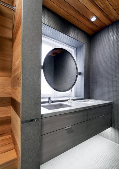 现代时尚灰色卫生间装修效果图