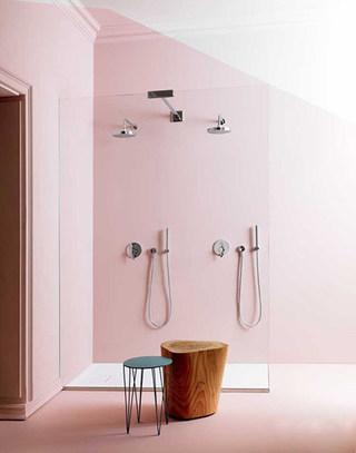 清新粉色卫生间装修图