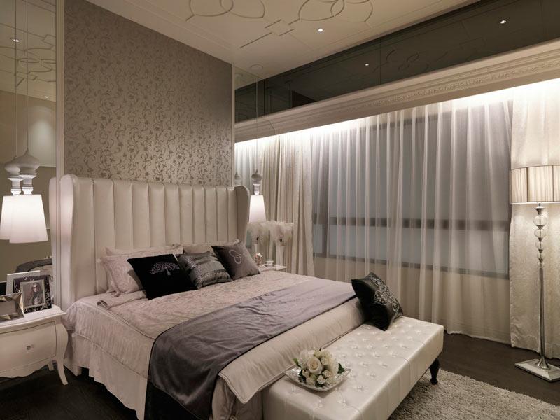 优雅精致简欧风卧室效果图
