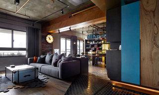 工业风公寓沙发背景墙装修效果图