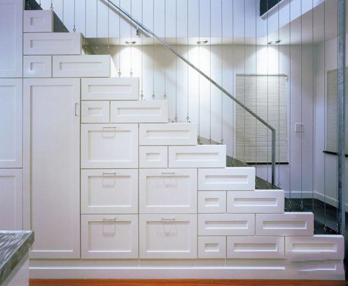 楼梯收纳柜效果图