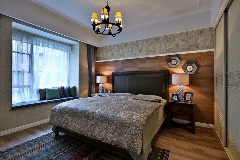森系乡村美式卧室效果图