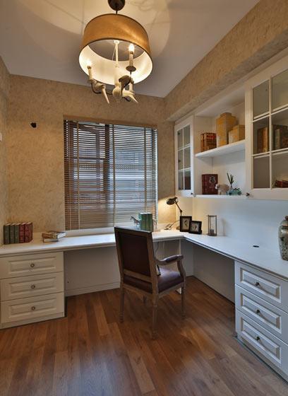 经典美式风格小书房装修效果图图片