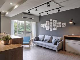 客厅厨房空间巧规划 108平米现代简约装修