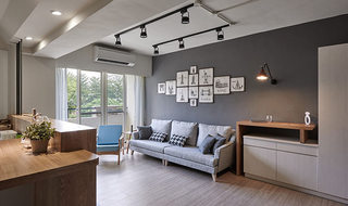 时尚灰色系现代简约风客厅效果图