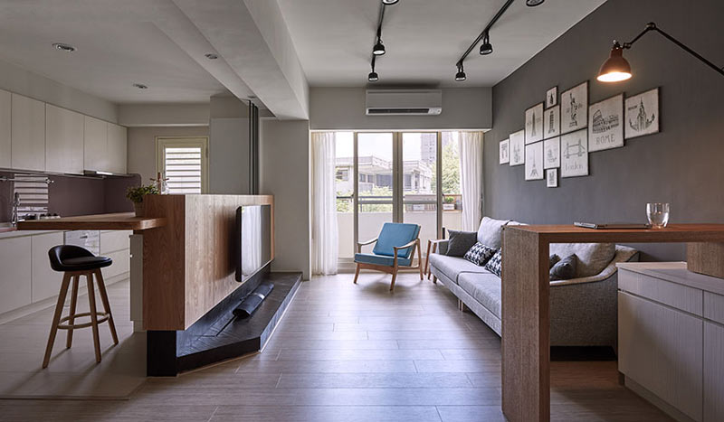 现代简约小客厅装修效果图