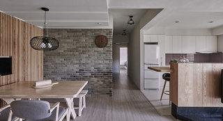 现代简约客厅餐厅过道装修效果图