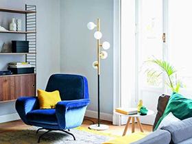 年轻态的家居空间 清新蓝色系二居设计