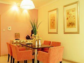 橙室之家 11个橙色系餐厅装修效果图