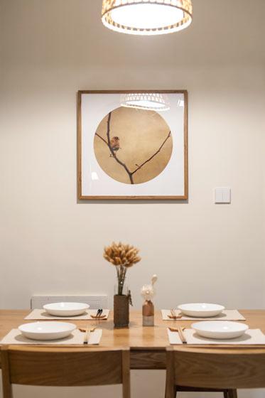 日式风格餐厅背景墙装修效果图
